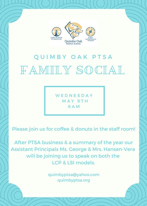 PTSA May Social